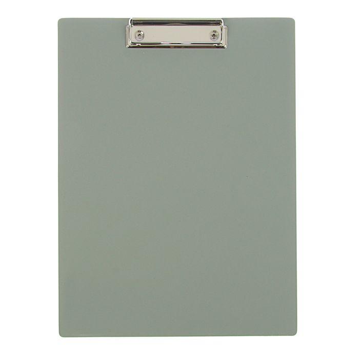 Планшет с зажимом А4, пластик 1,5мм, серый
