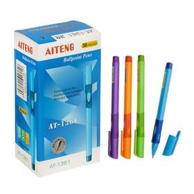 Ручка шариковая Elementary L для левшей, пулевидный пишущий узел 0.7 мм, синие чернила, резиновый упор, микс