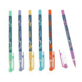 Ручка шариковая Shadow Smart Ink, игольчатый пишущий узел 0.7 мм, синие чернила, резиновый упор, микс