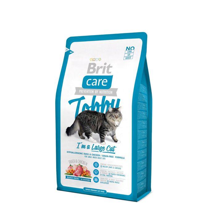 Сухой корм Brit Care Cat Tobby для крупных кошек, 7 кг