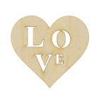Заготовка сердце Love 5х5 см