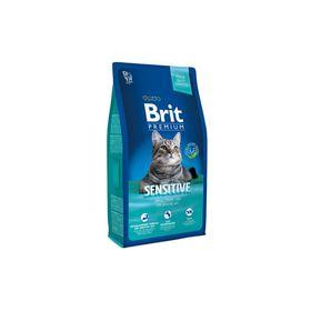 Сухой корм Brit Premium Сat Sensitive для кошек с чувствительным пищеварением, ягненок, 8 кг   21223