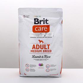 Сухой корм Brit Care Dog adult medium для собак средних пород, 3 кг.