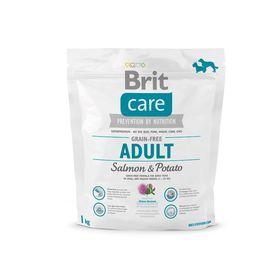 Сухой корм Brit Care Dog salmon для мелких и средних собак, лосось, 1 кг.