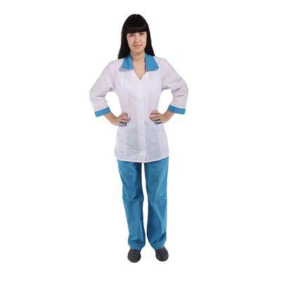 Костюм медицинский женский «Ева», размер 44-46, рост 170-176 см, цвет голубой