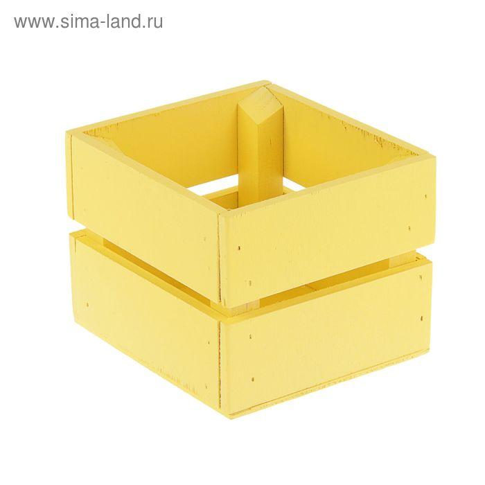 Ящик для цветов, жёлтый, 11 х 12 х 9 см