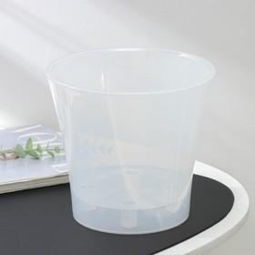 Кашпо со вставкой «Арте», 3,5 л, цвет прозрачный