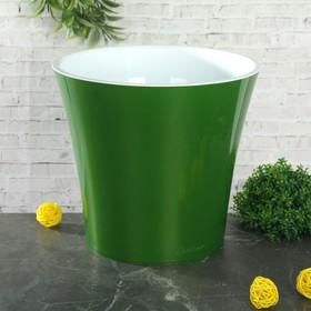 Кашпо со вставкой «Арте», 3,5 л, цвет зелёный