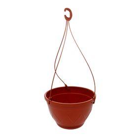 Кашпо «Лилия подвесная», 2,5 л, цвет терракотовый, ПОДВЕС В ПОДАРОК