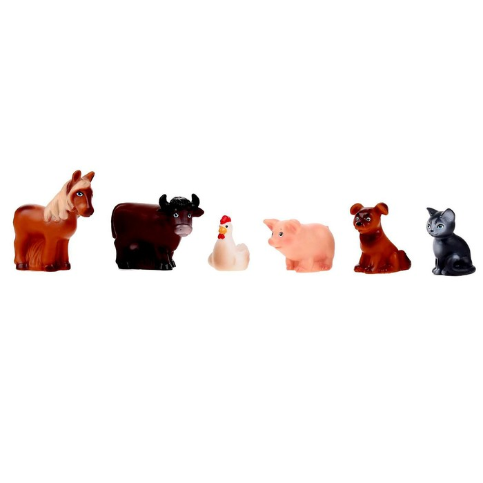 """Резиновая игрушка """"Набор Домашние животные"""""""