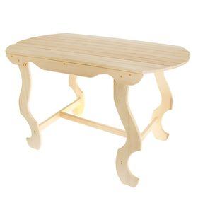 Стол с фигурными ножками 1200*630*730, липа ПРОМО