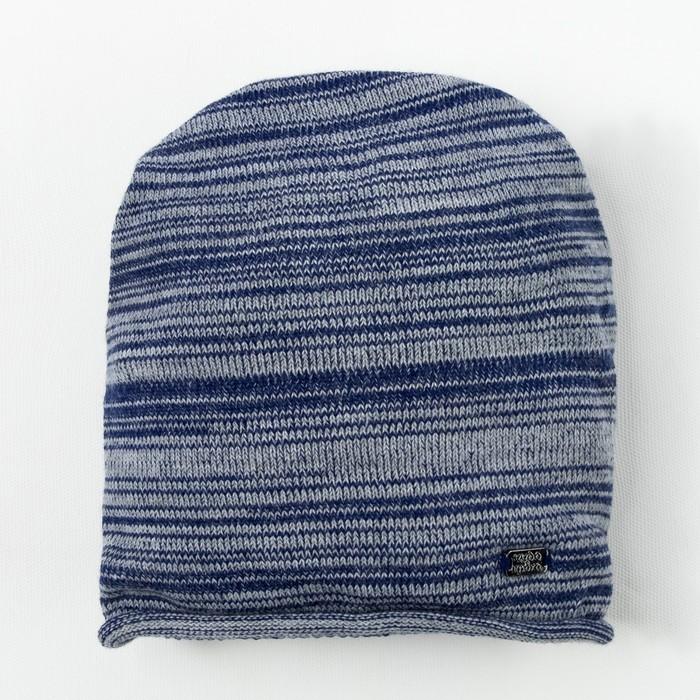 Шапка для девочки, размер 54, цвет тёмно-синий/серый C-814