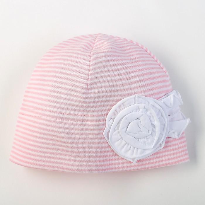 """Шапка для девочки """"Синди"""", размер 36-38, цвет розовый I-3-07 _М"""