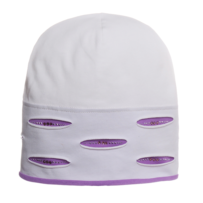 """Шапка для девочки """"Миранда"""", размер 50-52, цвет фиолетовый KL-177"""