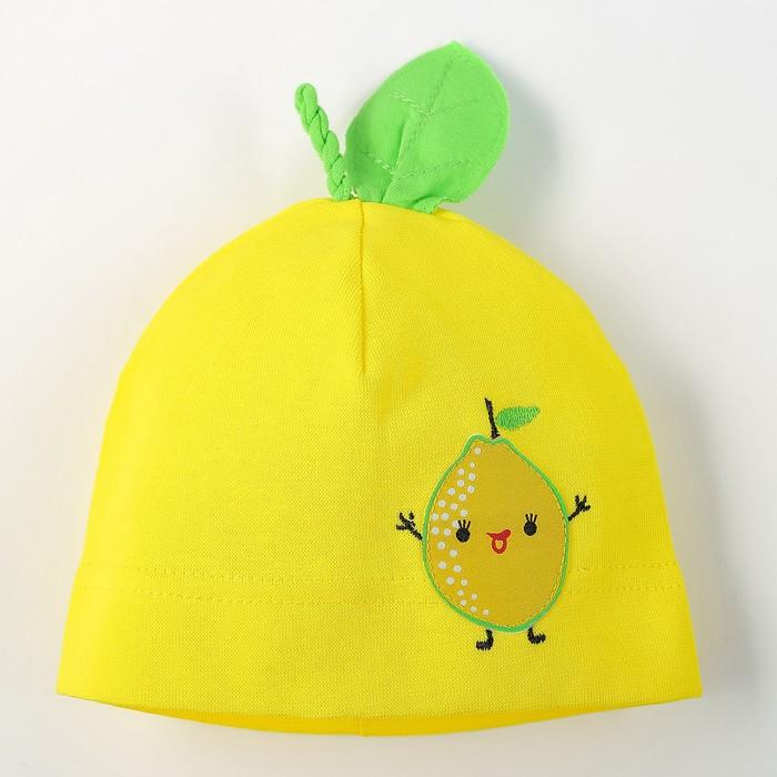 """Шапка для девочки """"Фруктисы"""", размер 40-42, цвет жёлтый P-289 _М"""