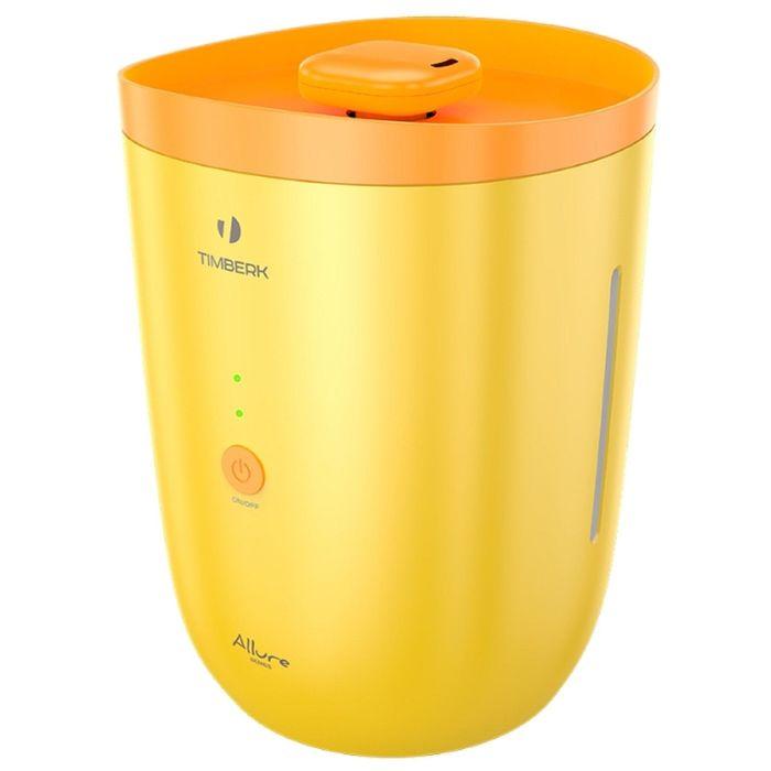 Увлажнитель Timberk THU UL 18, 16 Вт, 20 кв.м,  3.5 л, ультразвуковой, желтый