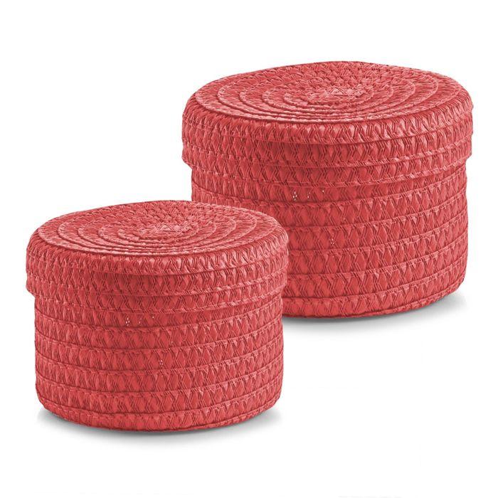 Набор корзинок ZELLER, 2 предмета, розовый