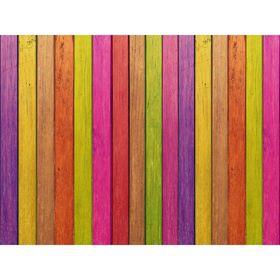 """Стеклянный фартук закаленное стекло М1 """"Разноцветный забор"""", 600х800х4"""