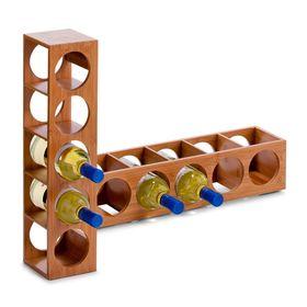 Подставка для бутылок, бамбук, размер 13,5х12,5х53 см