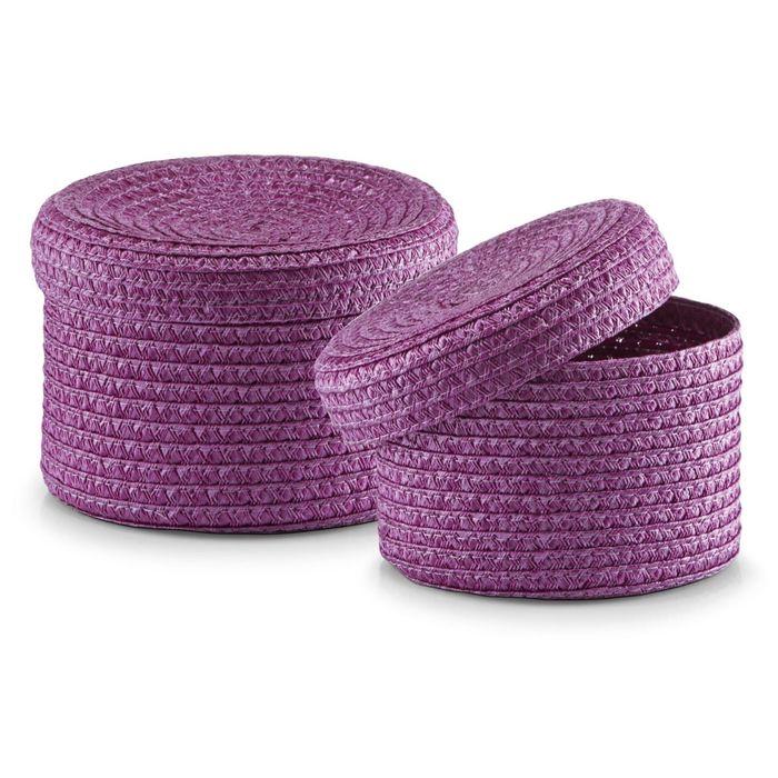 Набор корзинок ZELLER, 2 предмета, фиолетовый