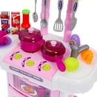 Игровой модуль в чемодане на колёсиках 3 в 1: плита, кухня, чемодан, 43 предмета - фото 105579426