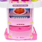 Игровой модуль в чемодане на колёсиках 3 в 1: плита, кухня, чемодан, 43 предмета - фото 105579427