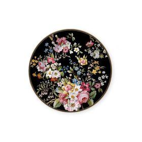 Тарелка десертная Цветочный карнавал, тёмная