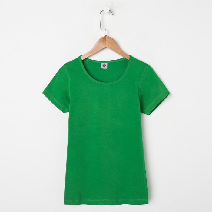 Футболка женская, размер S, цвет зелёный 112-3-20
