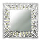 Зеркало SUNSHINE QU, древесный материал, серебристое
