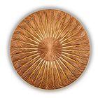 Панно INCIPIENT, древесный материал, бронзовое