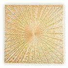 Панно INCIPIENT CUBE, древесный материал, золотистое