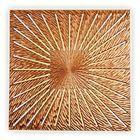 Панно INCIPIENT CUBE, древесный материал, бронзовое
