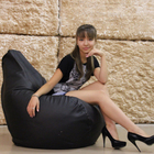 Кресло-мешок «Чёрная кожа»