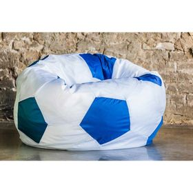 Кресло «Мяч» бело-голубой, оксфорд