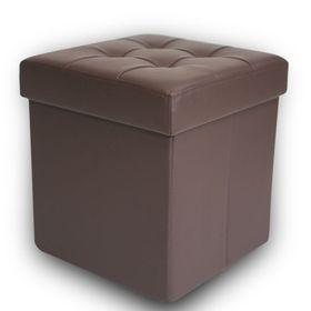 Пуфик складной DreamBag, коричневый, экокожа