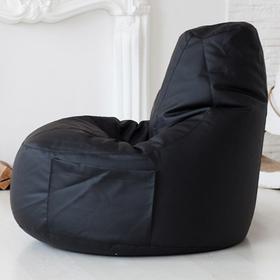 Кресло-мешок Comfort Black, экокожа