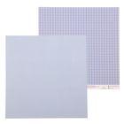"""Бумага для скрапбукинга """"Синяя клеточка"""", 30,5 х 30,5 см, 180 г/м"""