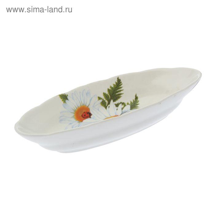 """Шпротник 0,19 л """"Лодочка"""" цветы 53, деколь"""