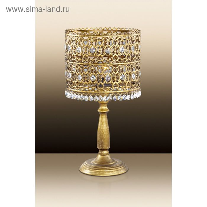 Настольная лампа Salona E14 40W 220V под бронзу/хрусталь