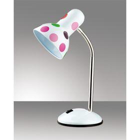 Настольная лампа Flip E27 60W горох белый, розовый, красный