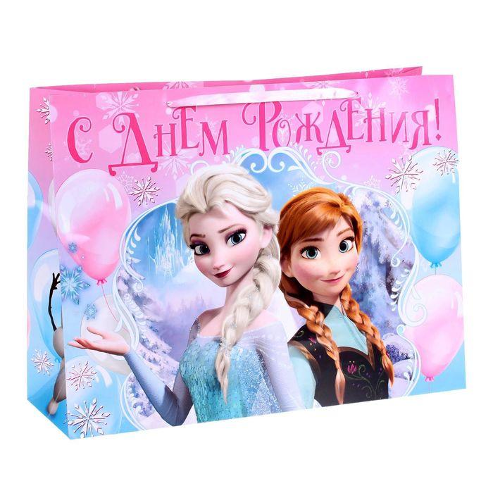 """Пакет ламинированный горизонтальный """"Счастливого праздника!"""" Холодное сердце, 46 х 61 см"""