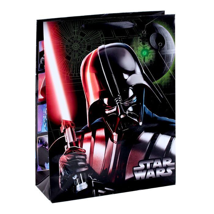 """Пакет ламинат вертикальный """"Переходи на темную сторону """",Звездные войны ,31 х 40 х 11 см"""
