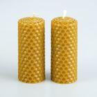 """Набор свечей из вощины медовой с эфирным маслом """"Лаванда"""" 8 см, 2 шт,, Со Светлой Пасхой"""