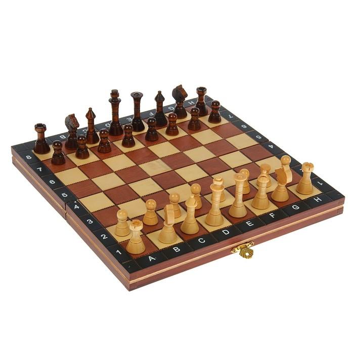 """Игра настольная """"Шахматы"""", доска и фигуры дерево, 27х27 см"""