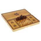 """Настольная игра 3 в 1 """"Юрма"""": нарды, шахматы, шашки, 34х34 см"""