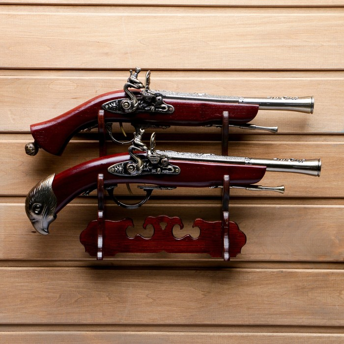 Пистолет-мушкетон настольный, Серия Ретро, 2шт, 27*39см