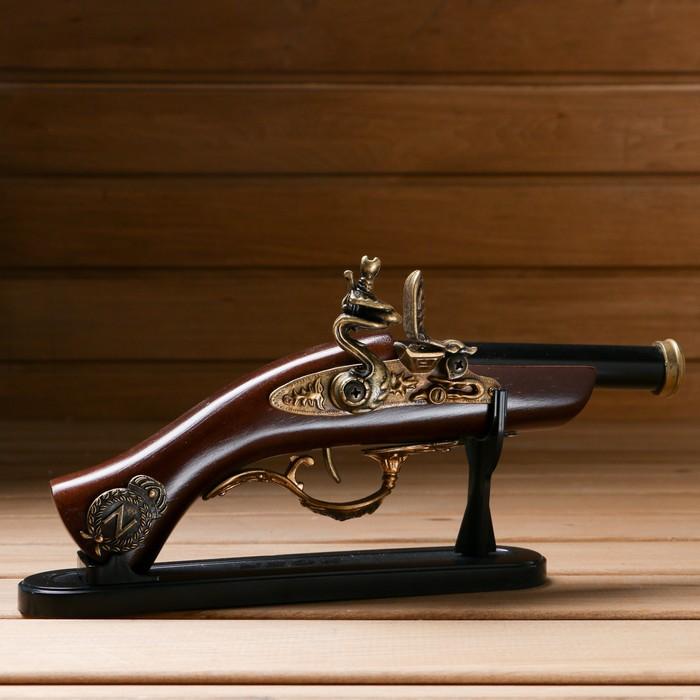 Пистолет, Серия Ретро, с черным дулом, 14х27 см - фото 8875402