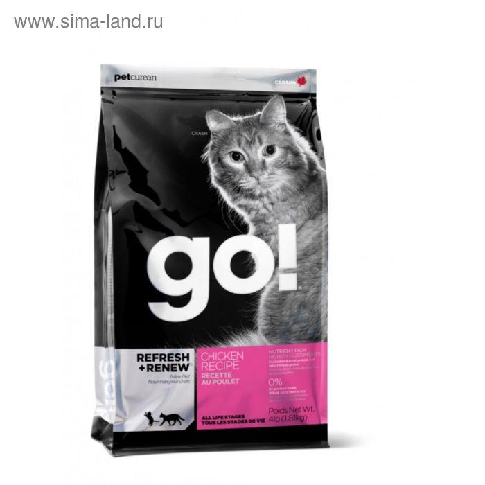 Сухой корм GO!  для котят и кошек, с курицей, фруктами и овощами, 1,82 кг.