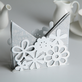 Салфетница «Цветы», 13×4,5×9 см