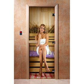 Дверь с фотопечатью, стекло 8 мм, размер коробки 190 × 70 см, правая, цвет А015